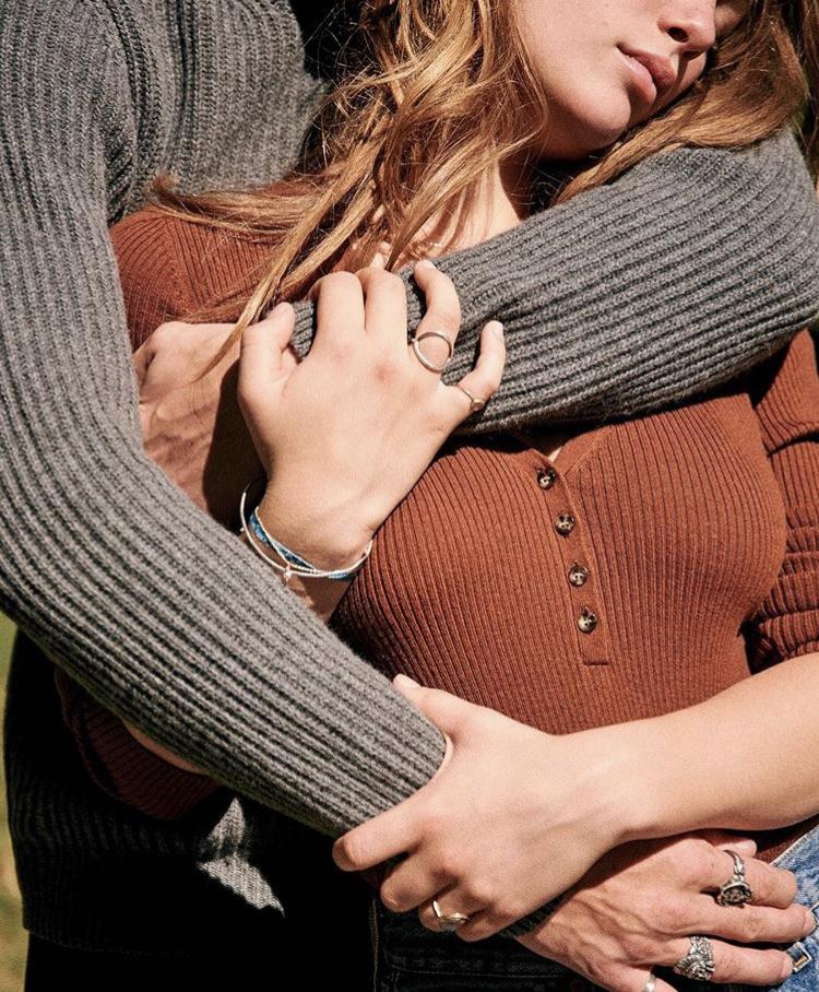 hands embrace